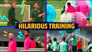 The most HILARIOUS Barça training exercises