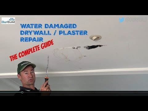 how-to-repair-a-water-damaged-plasterboard-/-drywall-ceiling