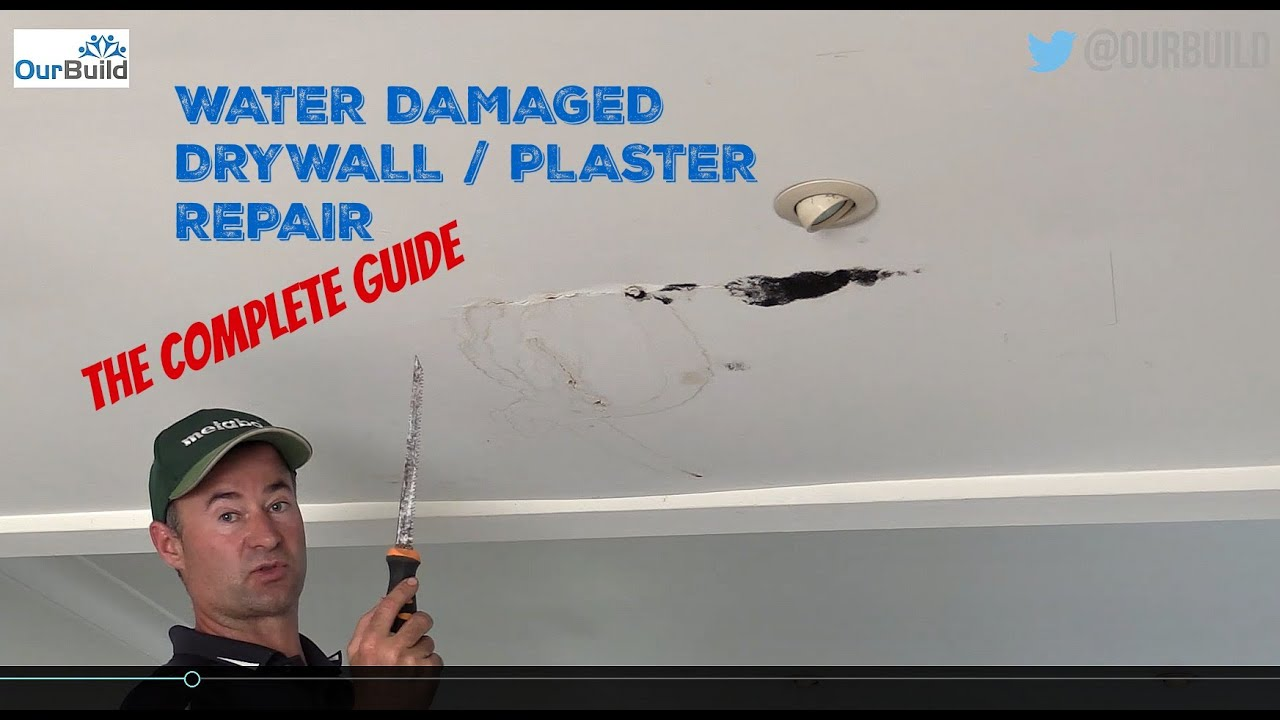How To Repair A Water Damaged Plasterboard Drywall