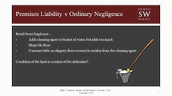 Premises Liability Ordinary Negligence