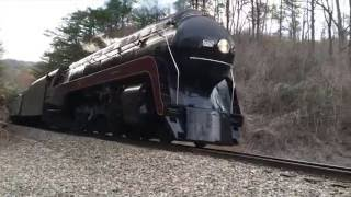 611 Steam Engine Passenger Train Going Through Old Fort, NC April 10, 2016