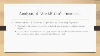 worldcom company case essay The earnings management issue of worldcom case study report essay introduction worldcom, the telecommunications giant, once was the largest telecommunications company in the world, with more than $30 billion annual revenue, $104 billion in assets and more than 20 million customers.
