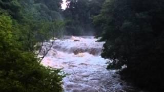 aysgarth falls wensleydale in full flood
