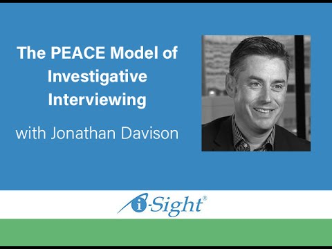 The PEACE Model of Investigative Interviewing with Jonathan Davison