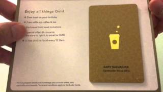 Opening My Starbucks Gold Card!