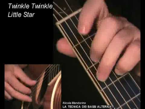 Twinkle Twinkle Little Star - fingerpicking + TAB! Learn to play ...