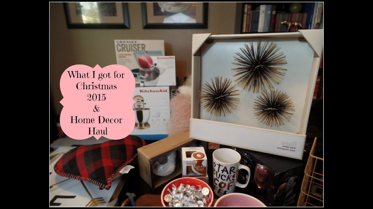 What I Got For Christmas 2015 Home Decor Haul Target