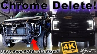 Chrome Delete! 2017 Ford F250 Superduty Repaired Now BETTER! Retractable Sidestep Install 4K