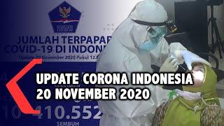 Update Corona 20 November: 488.310 Positif, 410.552 Sembuh, 15.678 Meninggal Dunia