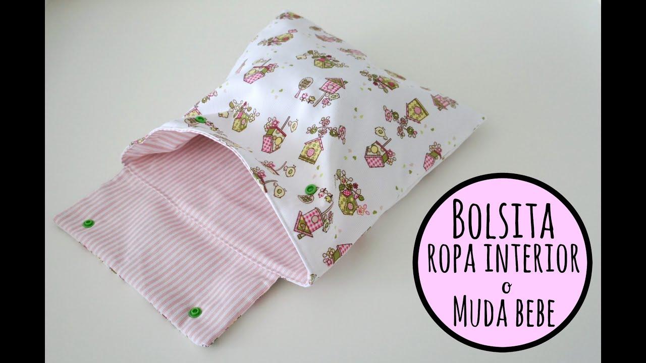 Tutorial diy para hacer una bolsa para la ropa interior o - Como hacer un cambiador para bebes ...