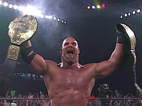 Goldberg wins the WCW World Heavyweight Championship
