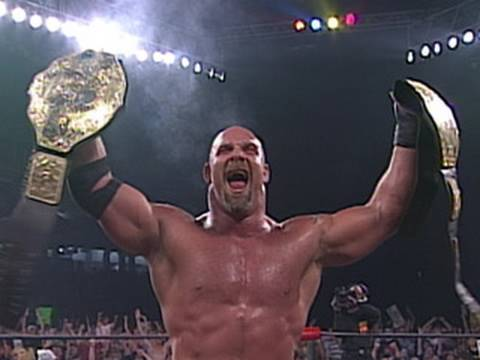 Goldberg wins the WCW World Heavyweight Championship