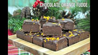 Chocolate Orange Slow Cooker Fudge