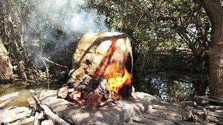 Primitive Technology : Furnace On Water