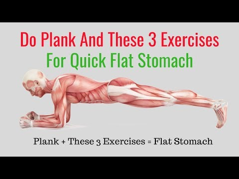 How to Get a Flat Stomach in a Month at Home Abs Workout Planking
