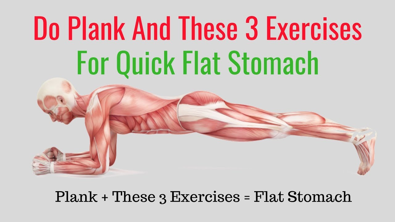 BEST WAY How to Get a Flat Stomach in a Month at Home -  Abs Workout Planking