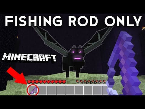 How To BEAT Minecraft Using ONLY A FISHING ROD (Fishing Rod Only Challenge)