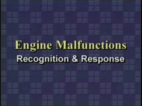 Turbofan Engine Malfunctions - Recognition Response