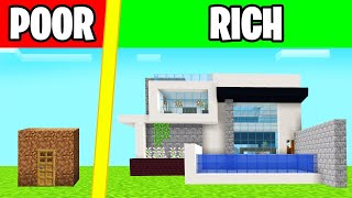 POOR vs. RICH HOUSE CHALLENGE In MINECRAFT!