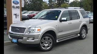 2007 Ford Explorer Limited W/ leather, Moonrof, heated Seats Review| Island Ford