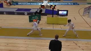 FE 2018 T32 05 F E Individual Yerevan ARM U23 European Championships YELLOW MROSZCZAK POL vs OBRAZTS thumbnail