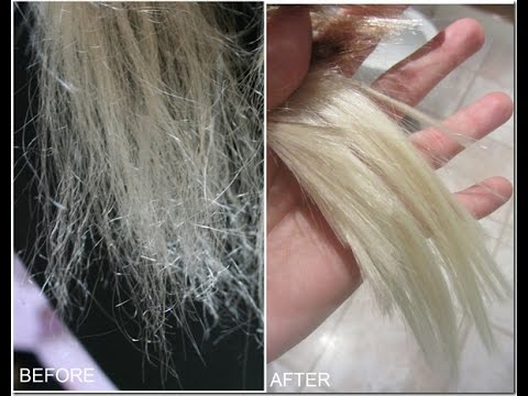 How to repair VERY damaged hair! :) - YouTube