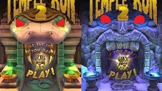 Temple Run 2 Blazing Sands VS Frozen Shadows iPad Gameplay for Children HD #2