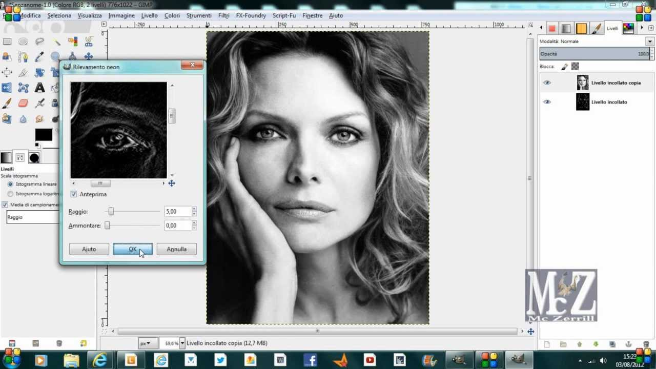 Speed Tutorial Gimp Trasformare Foto In Disegno Turn Photo Into Painting