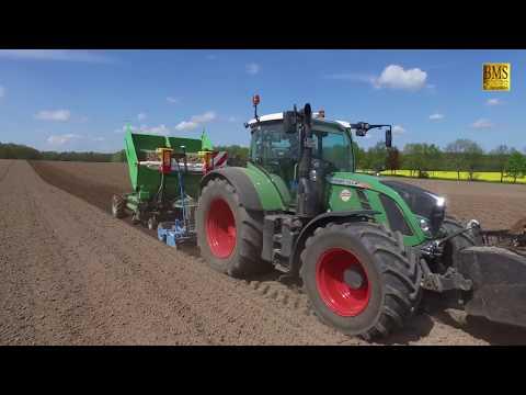 Vorgekeimte Biokartoffeln pflanzen /legen- Fendt 724/Structural PM 40 - Bioland - biologischer Anbau