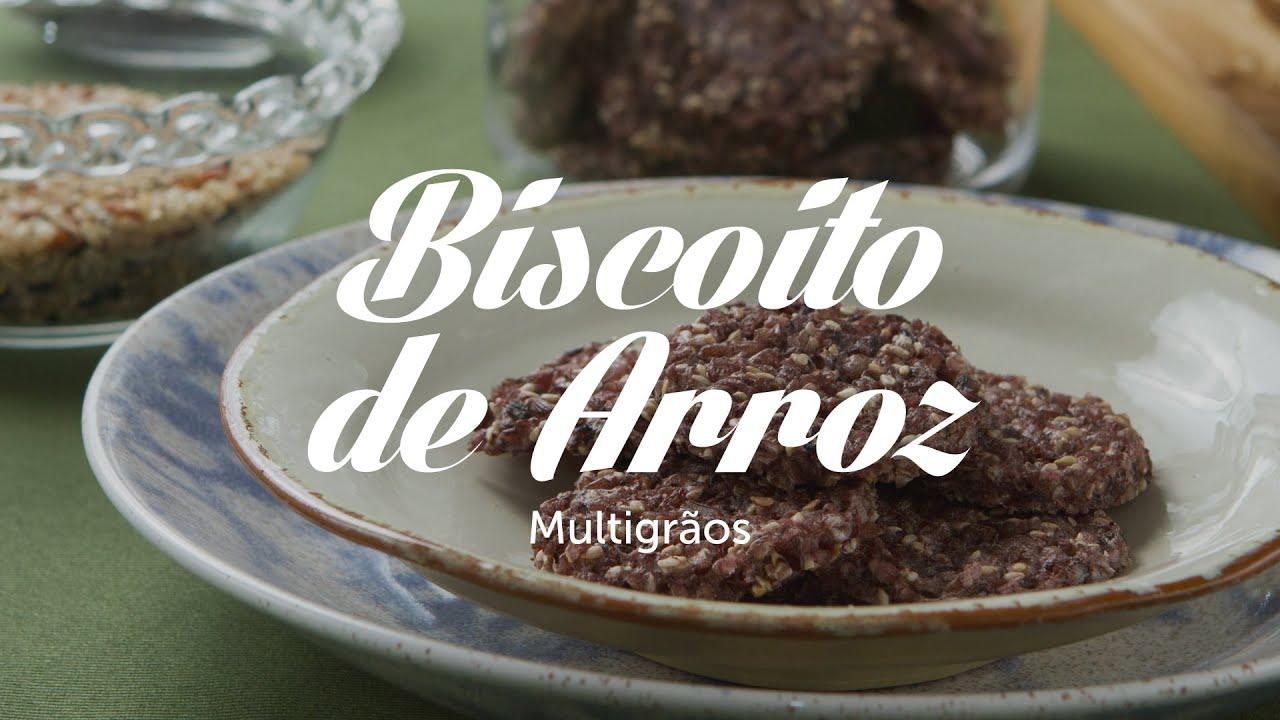 Super Biscoito de Arroz Multigrãos   Receitas Saudáveis - Lucilia Diniz  OA82