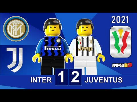 Inter vs Juventus 1-2 • Coppa Italia 2021 Lego • Gol e Sintesi Inter Juve • All Goals Highlights