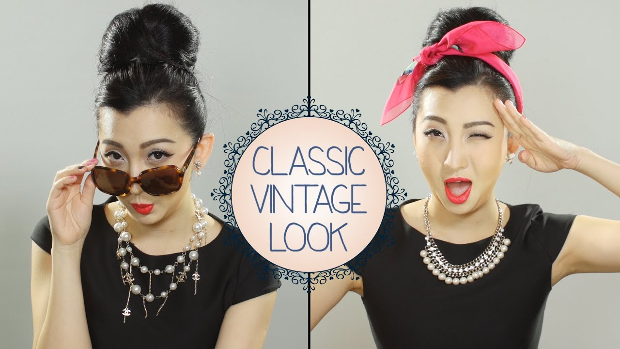 how to do the classic vintage makeup look youtube. Black Bedroom Furniture Sets. Home Design Ideas