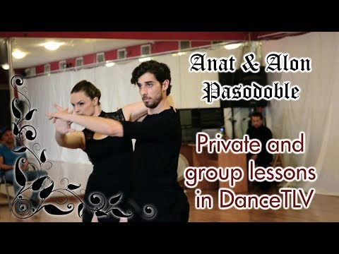 Anat & Alon - pasodoble! Private and group lessons in DanceTLV with Alon and many other teachers!