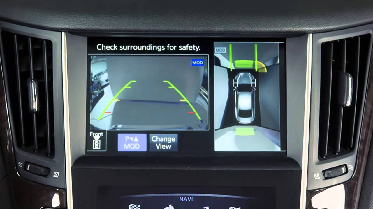 Backup Camera System >> 2014 Infiniti Q50 - Back-up Collision Intervention System (BCI) (if so equipped) - YouTube