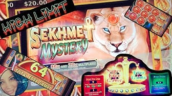 RISKY BONUS ON SEKHMET MYSTERY & SOME HIGH LIMIT PLAY ON DOUBLE DOUBLE GOLD