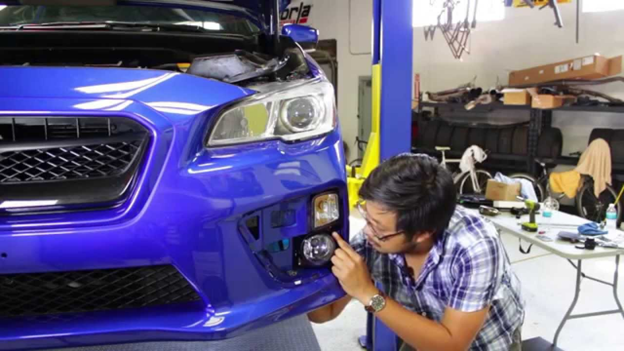 hight resolution of subispeed olm 2015 wrx oem style foglight kit install process youtube