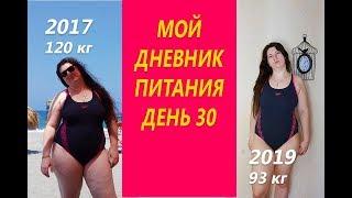 Похудела на 31 кг Мой Дневник питания День 30 или Что же я ЕМ и Худею