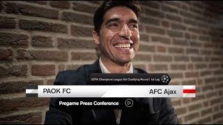 Pregame: Η συνέντευξη Τύπου του ΠΑΟΚ Ajax- PAOK TV