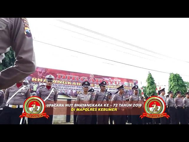 Upacara HUT Bhayangkara ke 72 Tahun 2018 di Polres Kebumen