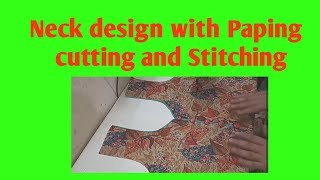 Neck design with Paping cutting and Stitching / Beautiful Neck design for Kurtis/Suits&churidar