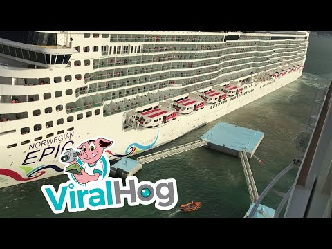 Cruise Ship Crashes while Coming into Port || ViralHog