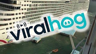cruise-ship-crashes-while-coming-into-port-viralhog