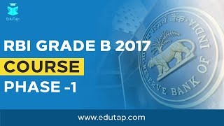 phase 1 course by edutap for rbi grade b 2017