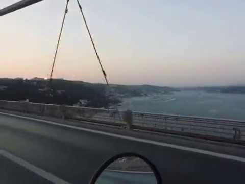 Passing the Bosphorus bridge