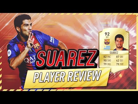 FIFA 17 UT - Suarez (92) Player Review W/Gameplay & In-Game Stats