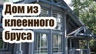 видео Отделка окна в доме из клееного бруса