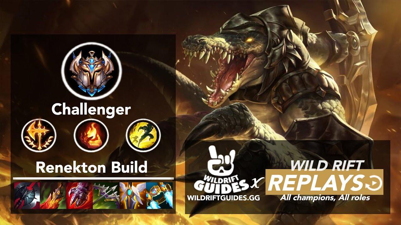 Wild Rift Renekton Mid Challenger Ranked Gameplay