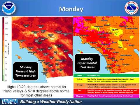 Dangerous Heat Wave Sunday through Mid Next Week - NWS San Diego