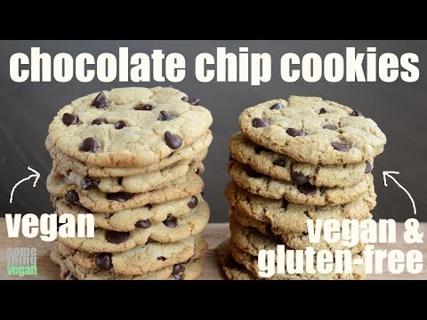 chocolate chip cookies (classic vegan or gluten-free) Something Vegan