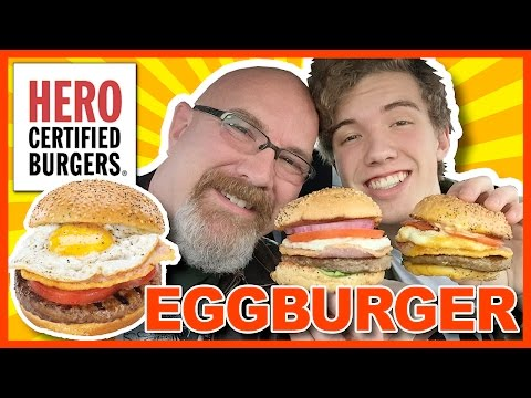 The Egg Burger HERO Certified Burger Review with Ben   KBDProductionsTV